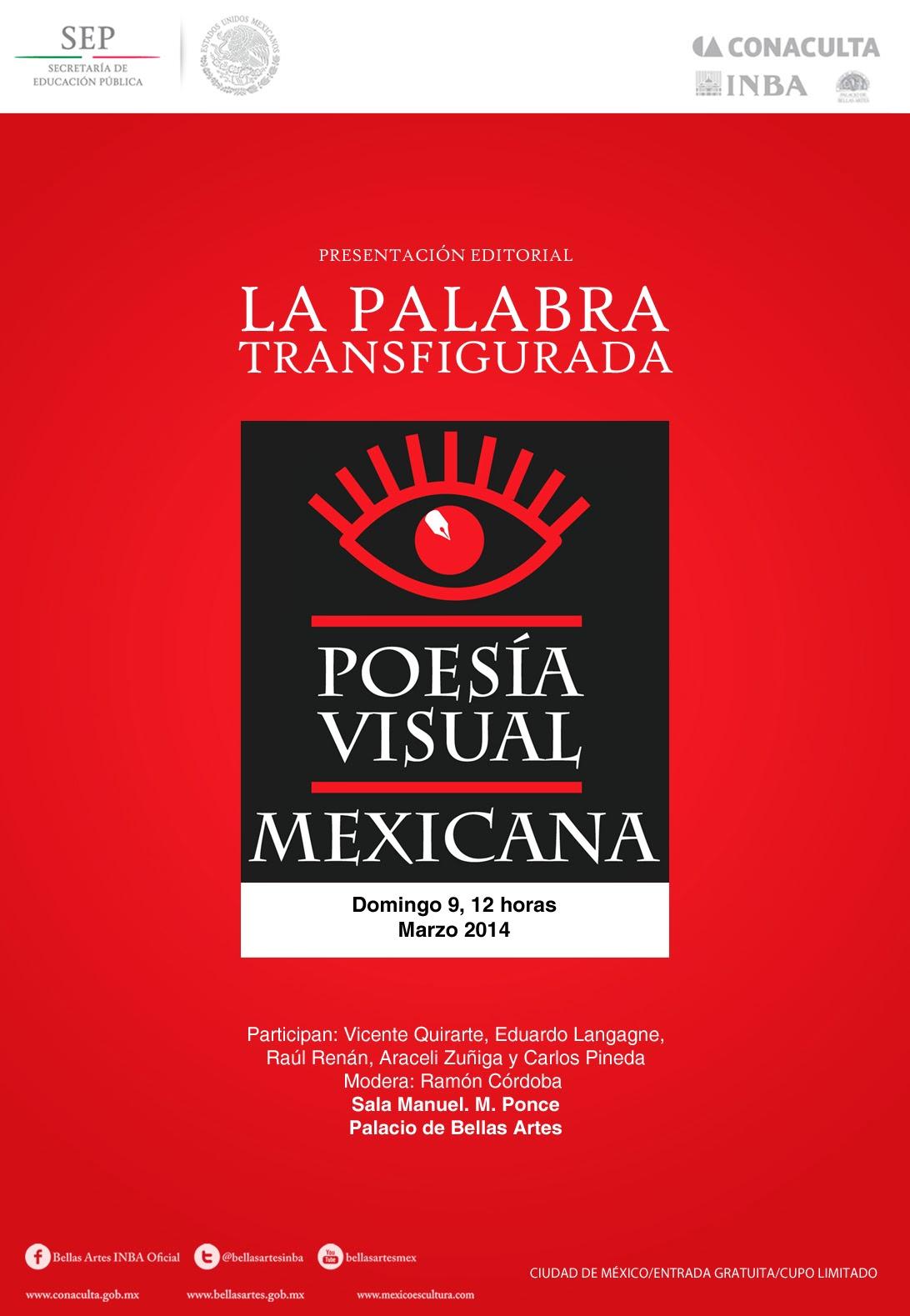 """Presentan """"Poesía visual mexicana: La palabra transfigurada"""" en Bellas Artes"""