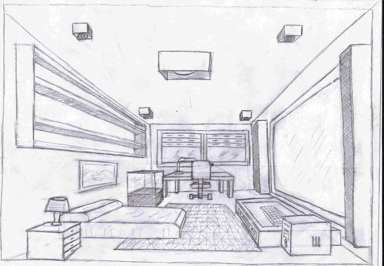 The and4given perspectiva para empezar for Habitacion dibujo