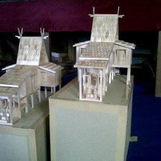 Miniatur rumah adat banjar yang paling diminati