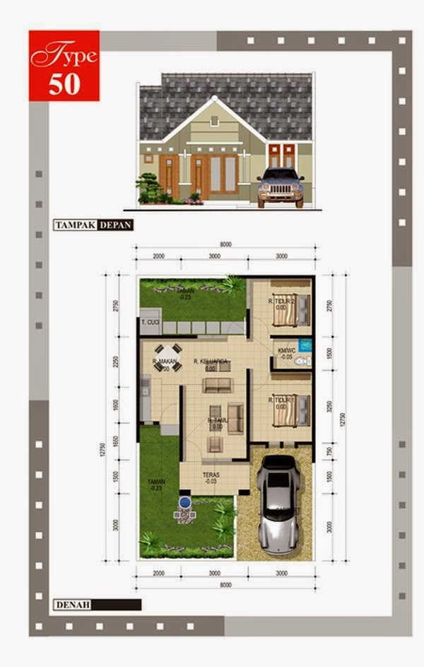 model rumah minimalis Type 452