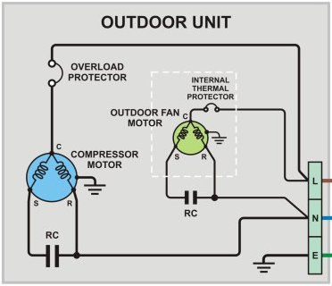 wiring diagram outdoor unit