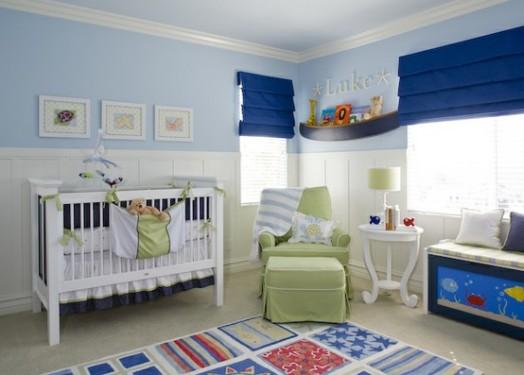 Dormitorios tem ticos para beb s dormitorios con estilo - Estores para habitacion de bebe ...
