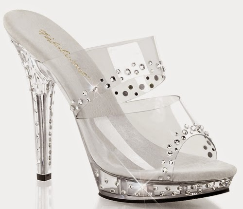 Pleaser USA Clear SHOES for eid