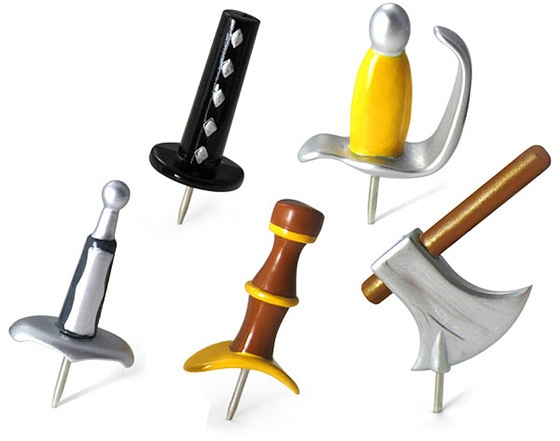 ไอเดีย-หมุด-อาวุธ-weapon thumbtacks