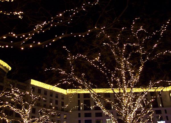 Weihnachtsbeleuchtung Leipziger Platz Berlin