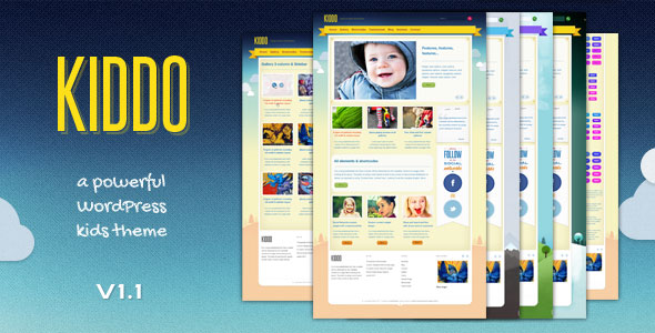 Image for Kiddo – Powerful Kids Theme by ThemeForest