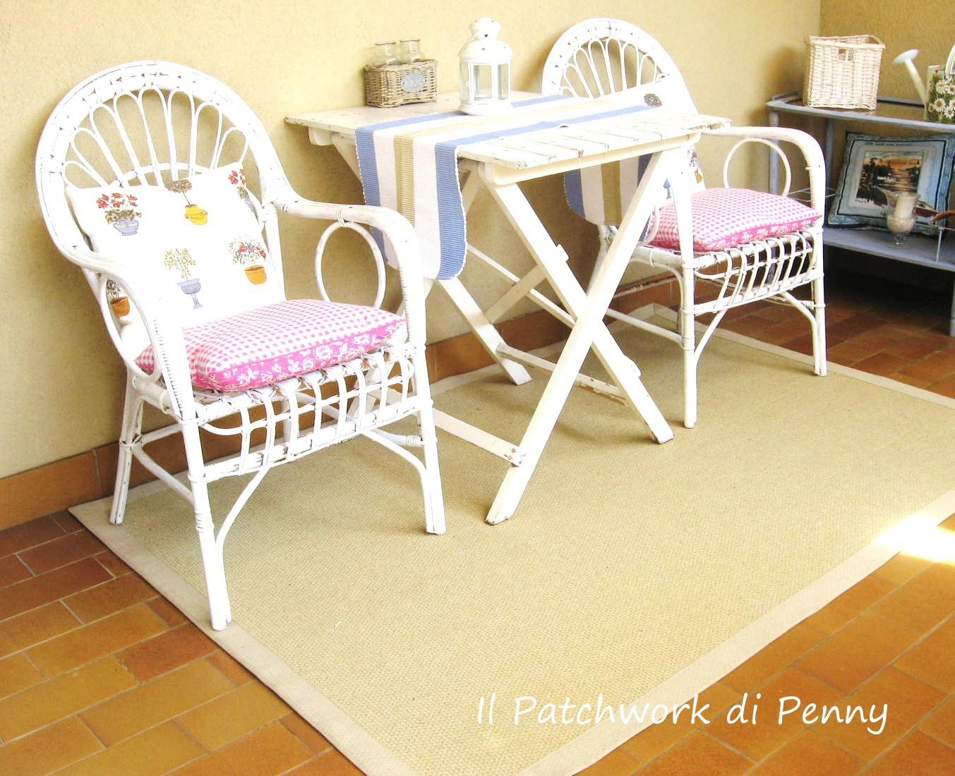 Il patchwork di penny sedie di vimini rinnovate for Poltrone vimini ikea