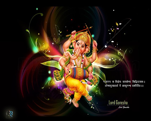 Ganesh Chaturthi Hindi (गणेश चतुर्थी) Greeting and wishes wallpapers free download