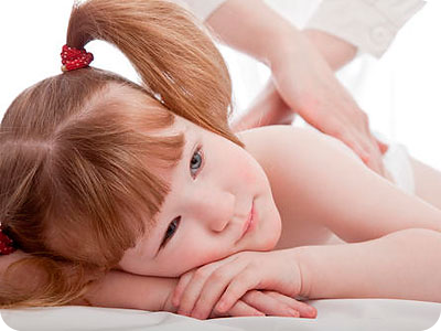 Children respond very positively to massages