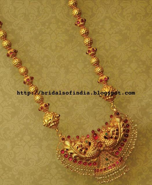 Bhima Jewellery Bands: Fashion World: Gold Annapakshi Design Temple Jewellery