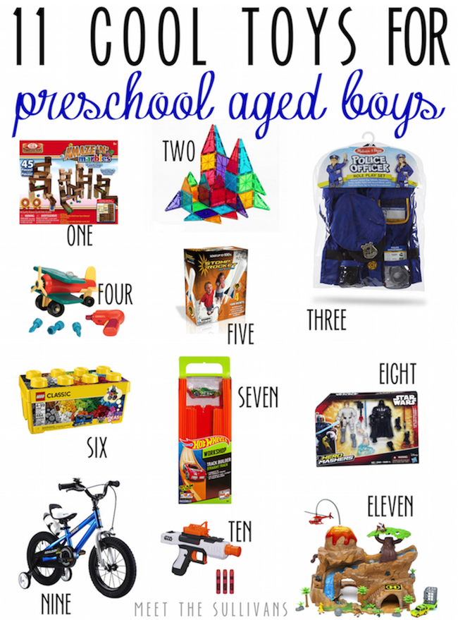 11 Cool Toys for Preschool Aged Boys