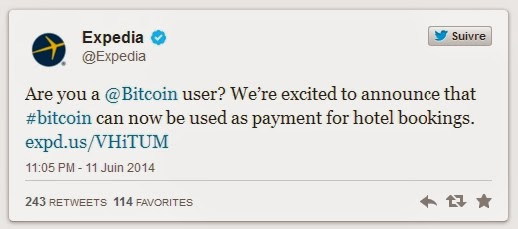 Expedia, Bitcoins, Expedia accepts payment with bitcoin, hotel booking, Bitcoin, Mt. Gox, internet, booking, Hotels,