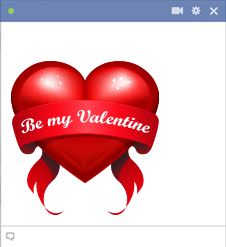 Heart with Be My Valentine words
