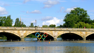 The Serpentine Bridge decked out for the games