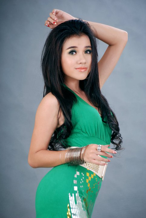 Ei Phyo Cherry in Colourful Hot Fashion Dresses