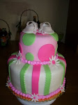 Fondant Baby Shower Cake