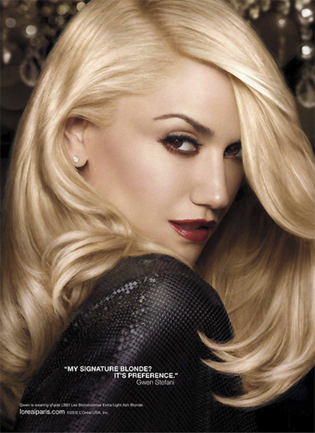 Gwen Stefani channels Veronica Lake in L'Oreal Preference ads