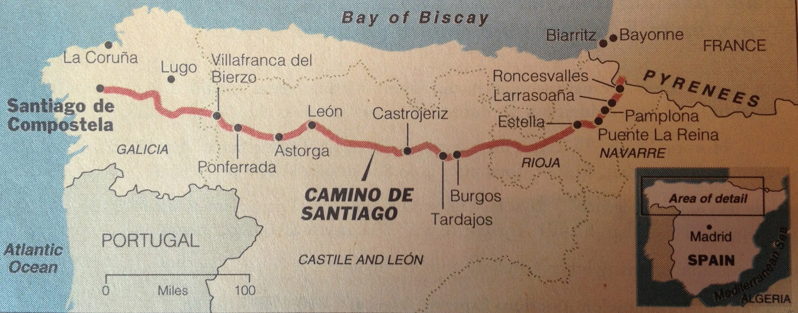 El camino de santiago time for a long walk preparation - St jean pied de port to santiago distance ...