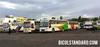 Buses at the Bicol Central Station in Naga City