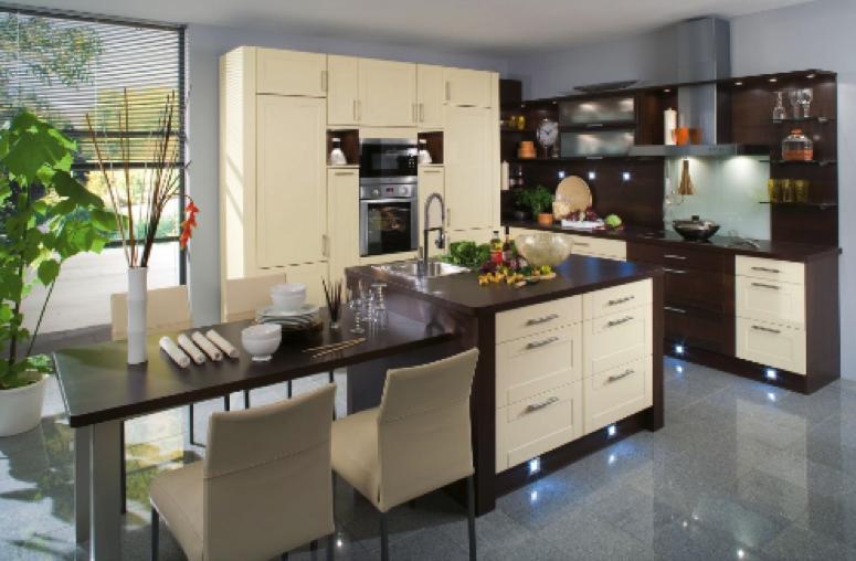 Les luminaires en cuisine la touche d co finale la d coration d 39 int rieur by deco soon for Cuisine marron et blanc