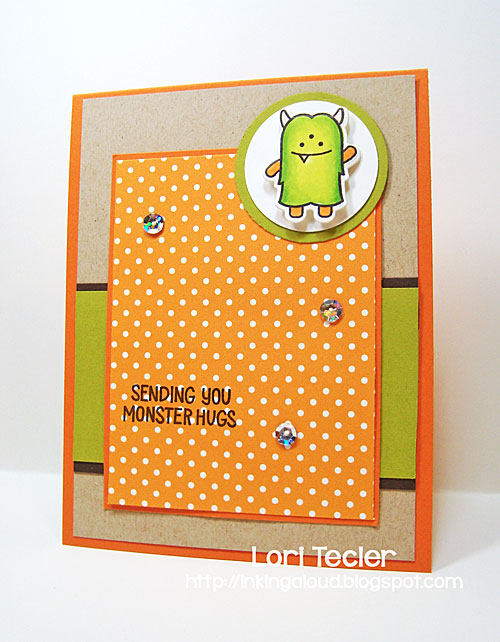 Monster Hugs card-designed by Lori Tecler/Inking Aloud-stamps and dies from Lawn Fawn