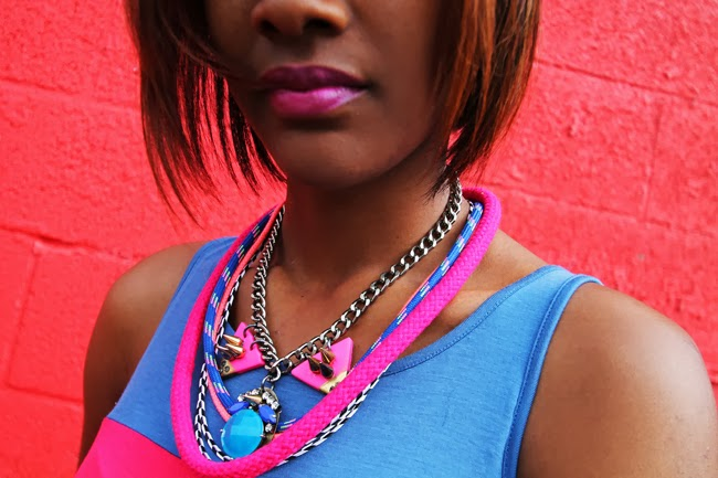 geometric and striped statement necklaces