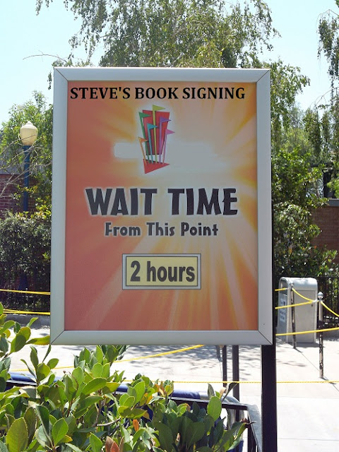 Book signing wait time