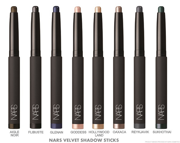 NARS Vevet Shadow Sticks Fall 2015 Makeup Collection Swatches Hollywoodland Goddess Oaxaca Aigle Noir Sukhothai Flibuste