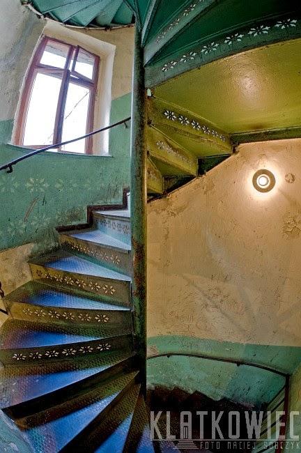 Kręcone schody w Katowicach