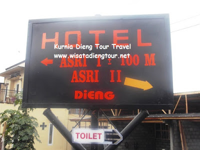 petunjuk lokasi hotel asri 2 dieng