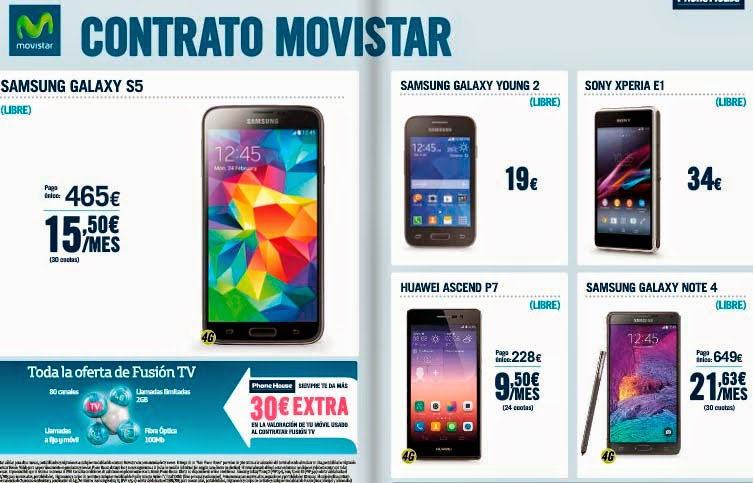 Ofertas de Movistar en diciembre 2014