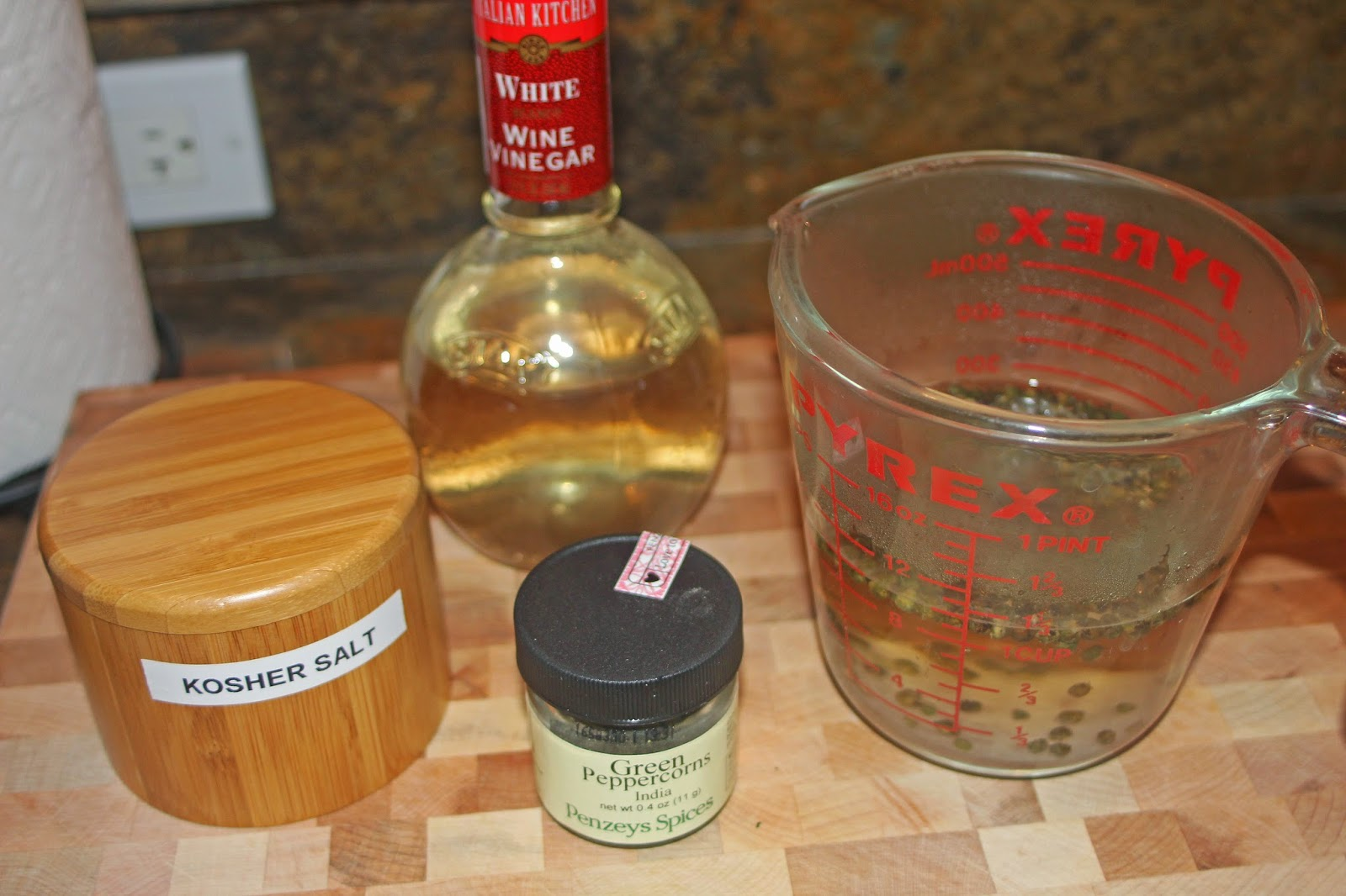 how to make peppercorn sauce thicker