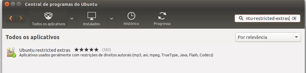 Codecs Multimídia no Ubuntu