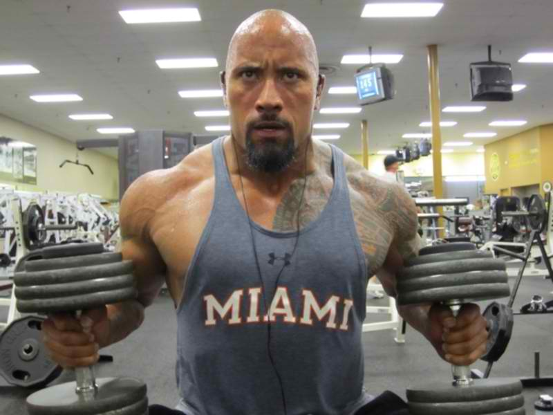 The Rock Dwayne Johnson workout and diet secret