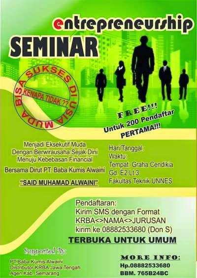 Seminar Wirausaha; Sukses Sejak Dini