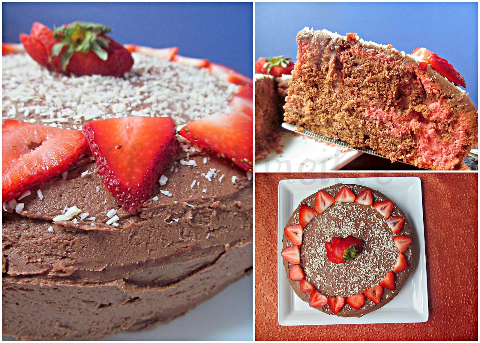 Strawberry Chocolate Marble Cake - The Schizo Chef