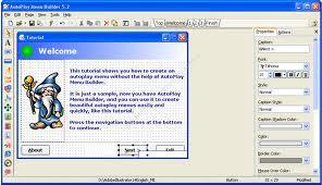 Screenshot Software Auto Play Menu Builder 7