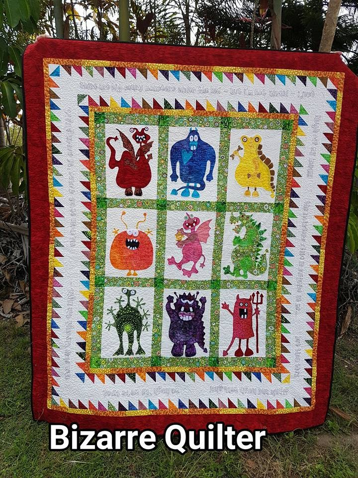 Bizarre Quilter Finishing A Monster Quilt