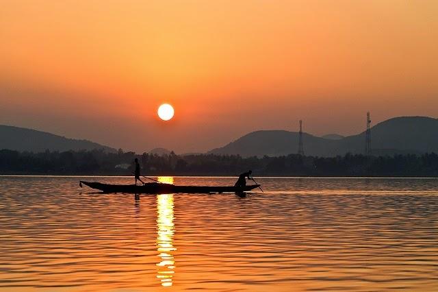 Sunrise View of Chilika Lake, Orissa