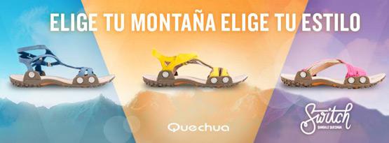 sandalias transformables de mujer Quechua Switch