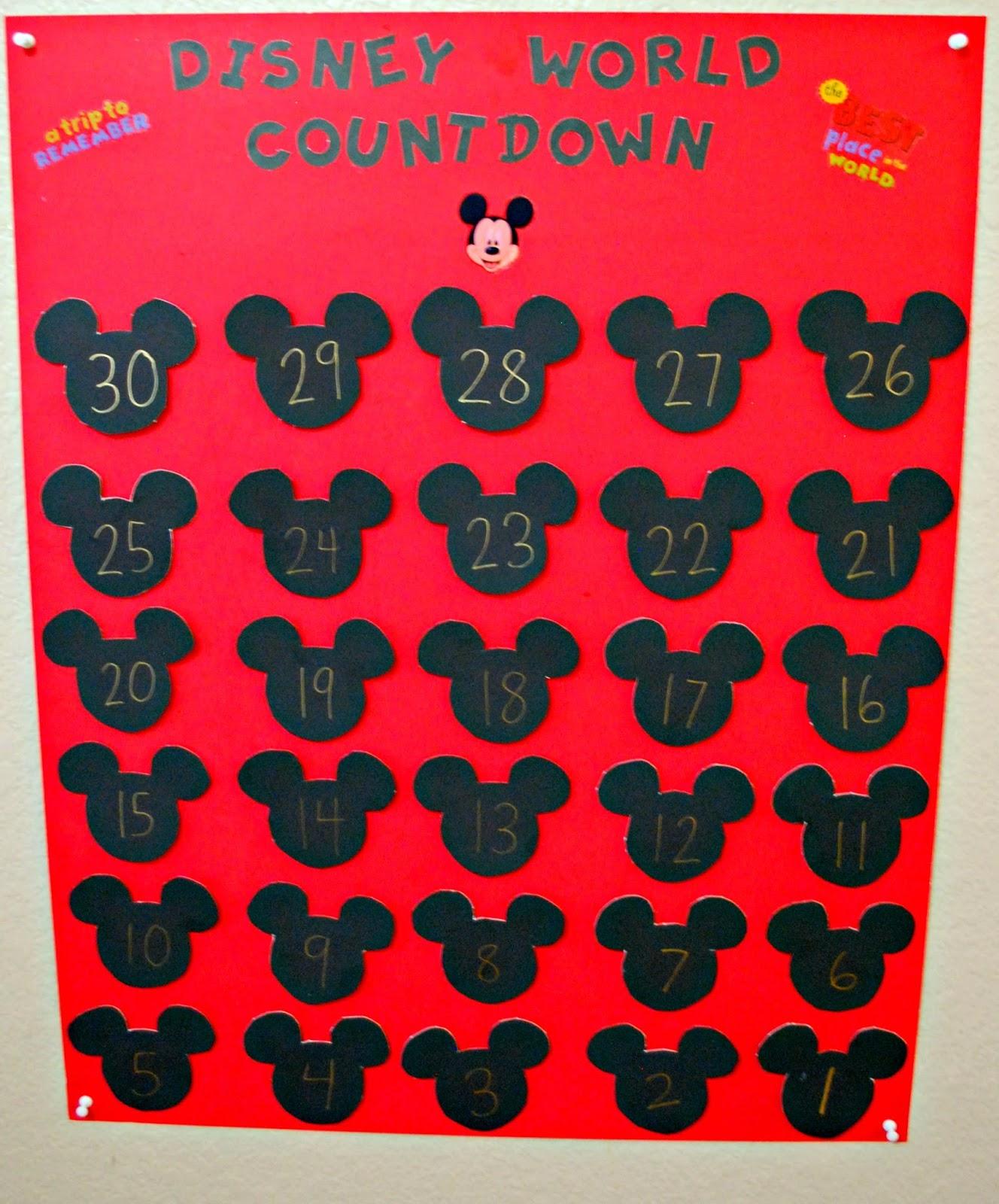 Countdown To Disney Calendars | Calendar Template 2016