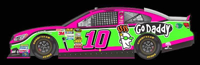 Danica Patrick's breast cancer awareness paint scheme