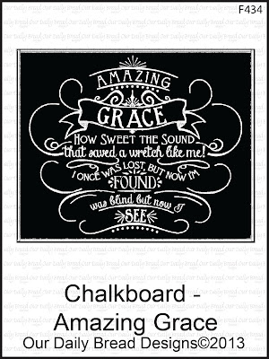ODBD Chalkboard - Amazing Grace