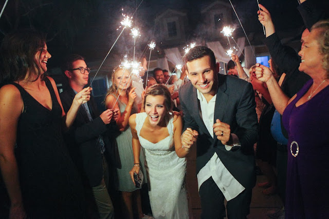 Wedding Sparklers Photograph