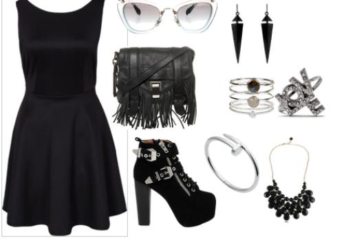 looks vestido negro