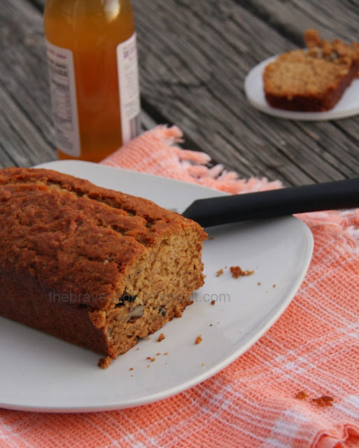 The Brave Cook: Spiced Eggless Pumpkin Quick Bread