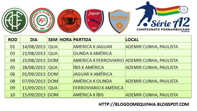 FPF divulga a tabela do Pernambucano Série A2 2013
