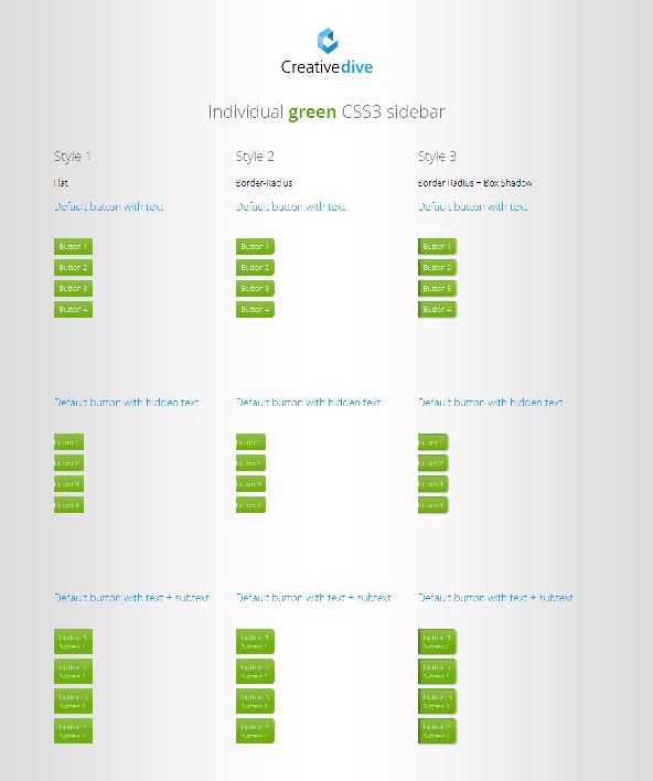CSS3 Sidebar – vertical & horizontal