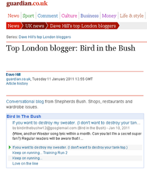 As featured in the Guardian&#39;s Top London Bloggers