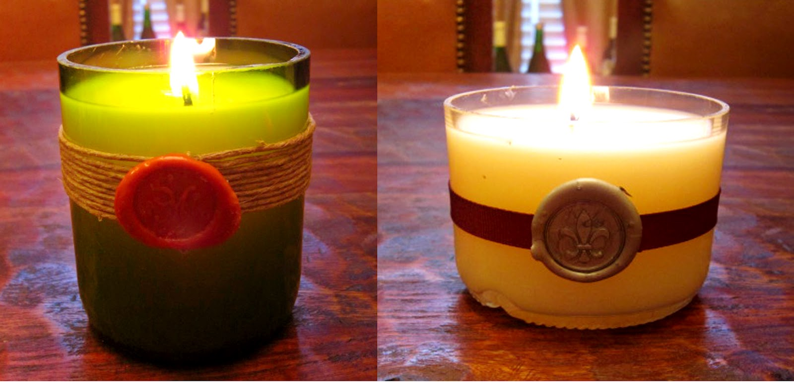 wine cork diy recycled wine bottle candles